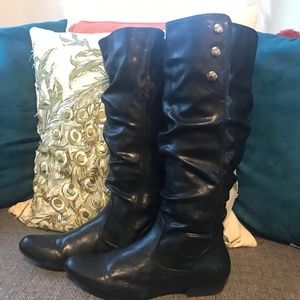 Black Slouch Boot size 10